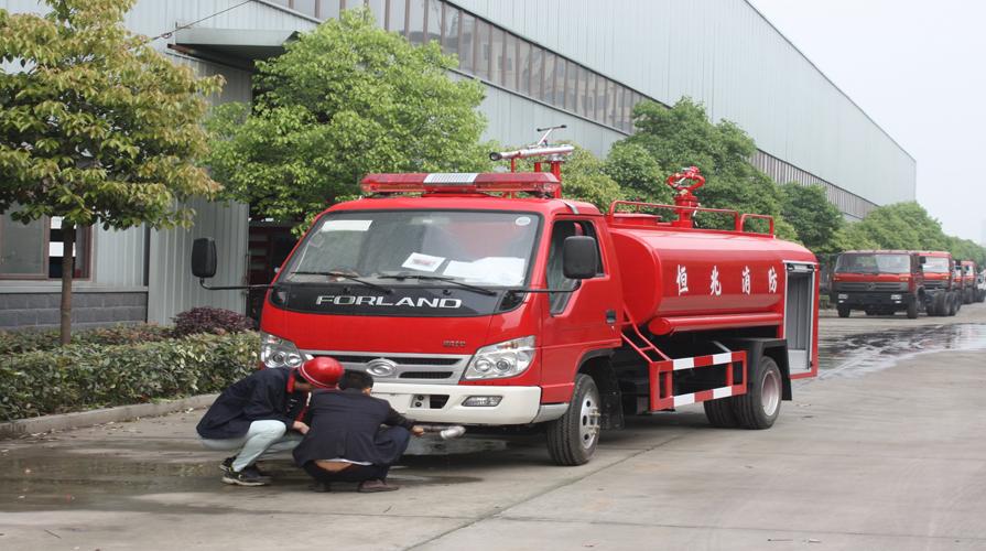 消防洒水车的悬挂出现意外情况需要怎么处理