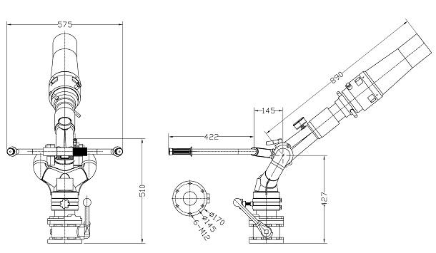 新东日20型的消防炮详细图解
