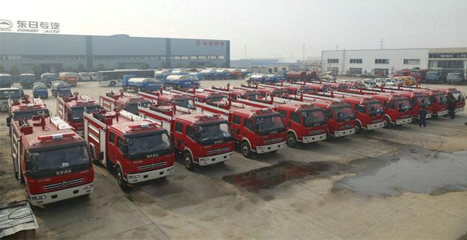 22辆国五2.5吨东风小多利卡水罐消防车质量检测全部合格待发车