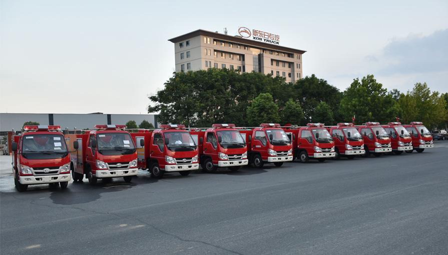市消防救援大队举行乡镇专职消防队消防车发放仪式