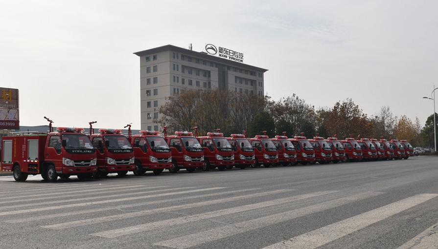 小型福田2吨水罐消防车 17台又发车了