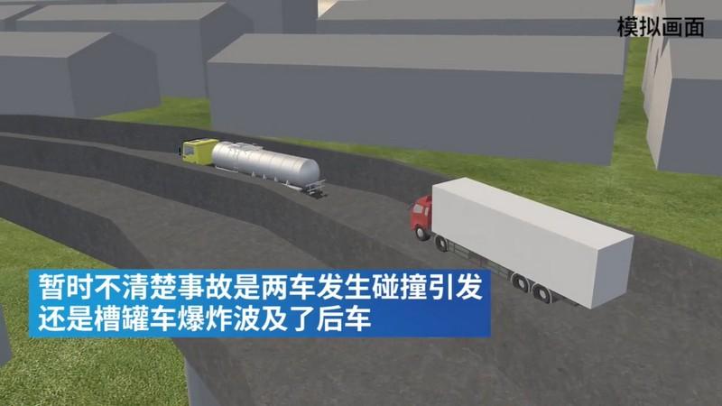 3D还原浙江温岭槽罐车爆炸现场