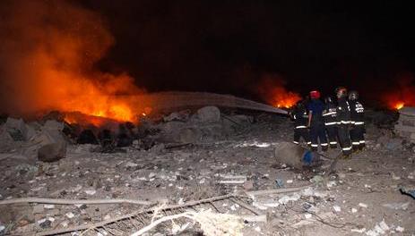 四川省德阳市鞭炮厂爆炸 德阳消防出动27辆中超直播24直播网104救援人员赶赴现场