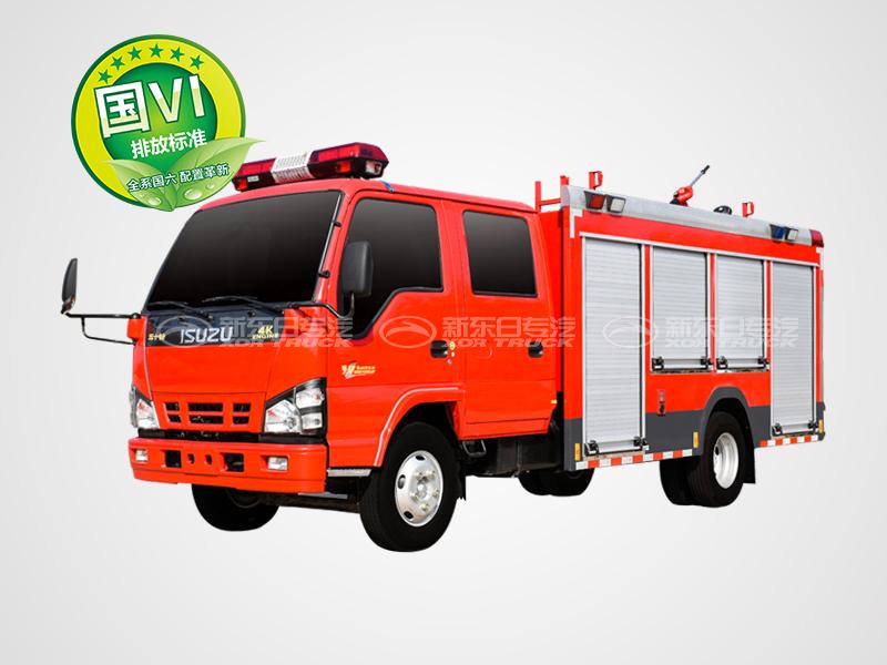 新东日牌 国六内藏罐五十铃水罐消防车2.5吨