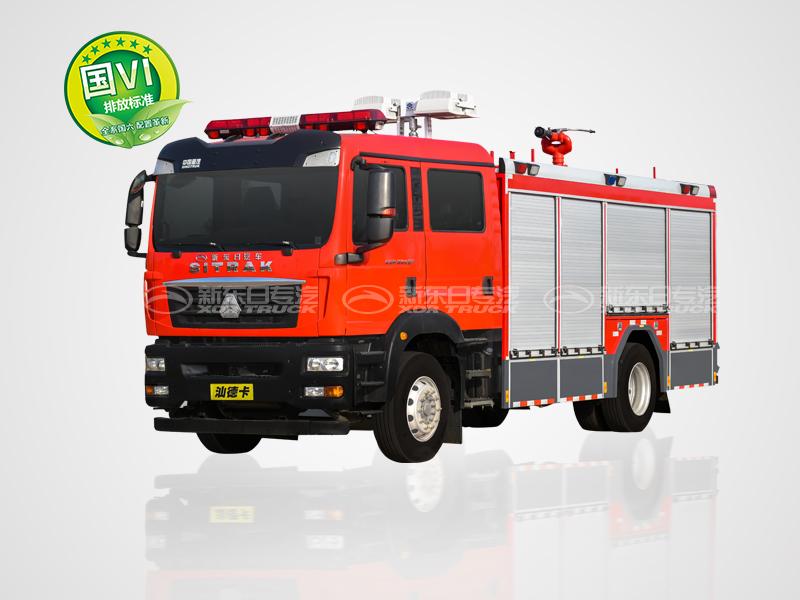 新东日牌 国六 汕德卡城市主站消防车